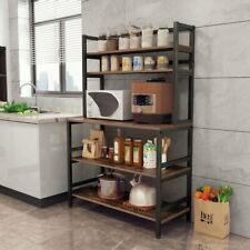 Industrial Microwave Oven Stand Free Standing Kitchen Bakers Rack Storage Shelf
