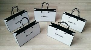 5x Authentic Chanel Paper Shopping Gift Bag Tote White VIP GIFT
