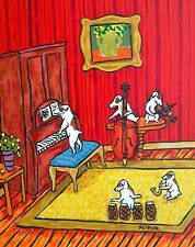 Jack Russell terrier jam band dog art 13x19 Glossy Print