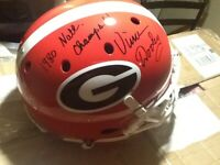 FULL size Signed Vince Dooley Georgia Bulldogs  Football Helmet with 1980 title!