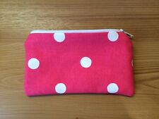 Handmade Coin Purse Made With Cath Kidston Red Spot Fabric