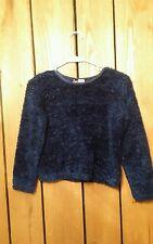 Girls Size L Knit Works Long Sleeve Stretch Sweater W / Metallic