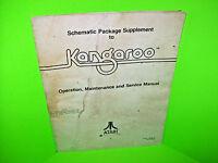 Atari KANGAROO Original 1982 Video Arcade Game Schematic Package Manual Only