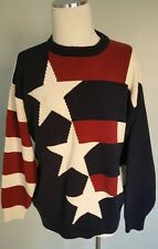 XL Mens Sweater Cotton Traders Patriotic American Flag theme Rare
