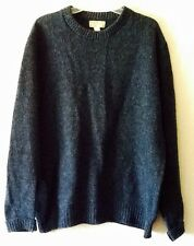 L.L. Bean Wool Blend Crew Neck Blue Sweater Men's Extra Large Long USA Made