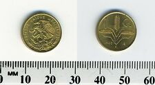 Mexico 1963 - 1 Centavo Brass Coin - National arms, eagle left - Oat sprigs