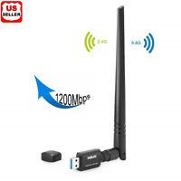 Dual Band High-Gain Antenna 802.11ac 1200Mbps USB3.0 AC1200 USB wifi Adapter USA