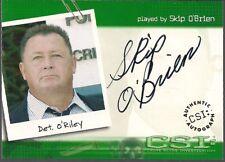 CSI SERIES 1 STRICTLY INK SKIP O'BRIEN DETECTIVE O'RILEY AUTOGRAPH CARD CSI-A9