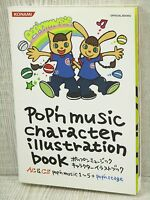 POP'N MUSIC 1-5 & Stage Character Illustration Book Art Fanbook PS AC KM29*