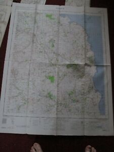 Alnwick military map 1960 War office and Air Ministry vintage map No.71 vintage