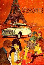 Saab  Monte Carlo 850 Auto Car Motor  Poster Print