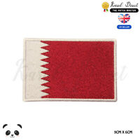 QATAR National Flag Embroidered Iron On Sew On Patch Badge For Clothes etc
