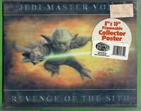 "Star Wars Jedi Master Yoda Revenge Of The Sith 8 x 10"" Lenticular Poster Rare"