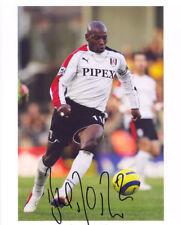 Luis Boa Morte, Fulham & Portugal, signed 10x8 inch photo. COA.