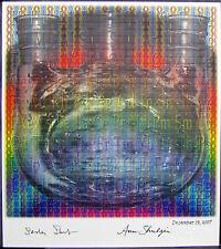 Shulgin blotter art signed by both Ann Sasha PIHKAL TIHKAL Rafti