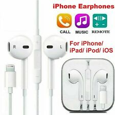 More details for for iphone 12 11 pro 8 7 xr xs max wired bluetooth headphones earphones with mic
