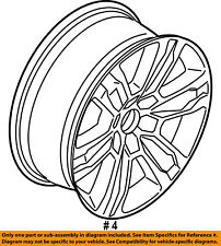 FORD OEM 15-16 F-150-Wheel-Alloy Aluminum FL3Z1007J
