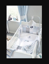 Next Ocean Days nursery cot bed in a bag bedding Coverlet, Blanket, Fitted Sheet