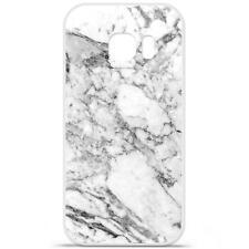 Coque Housse Etui Samsung Galaxy S7 Edge Silicone Gel qualité FR - Marbre blanc