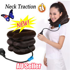 Massager Neck Brace Support Cervical Collar Air Traction Therapy Device BO