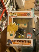 FUNKO POP SUPER SAIYAN TRUNKS 155 NYCC 2016 EXCLUSIVE DRAGONBALL Z + Protector