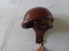 Ancien casque de moto en cuir années 30-50   Ideal Sport