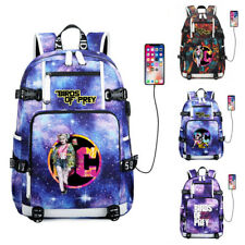 DC Harley Quinn Canvas Backpack Teenagers Schoolbag USB Charging Travel Bag