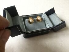 9ct Gold And Real Pearl Stunning Clip Earrings