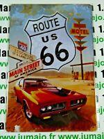 PB98N PLAQUES TOLEE vintage 20 X 30 cm : ROUTE US 66 Main Street of America