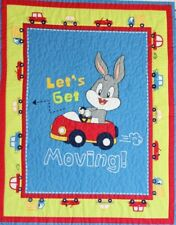 Looney Tunes Bugs Bunny Let's Get Moving 100% Cotton Fabric Panel