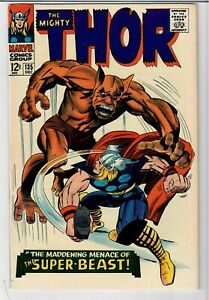 THOR #135 MARVEL COMICS NICE SHAPE ORGIN OF HIGH EVOLUTIONARY ! KEY ISSUE