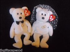 Bride And Groom Beanie Bears - Mr. And Mrs. - Mwmt - Adorable - Lqqk!