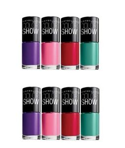 MAYBELLINE COLOR SHOW NAIL POLISH WHOLESALE (JOBLOT PACK OF 12 ASSORTED COLOURS)