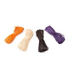 Darice Floral Craft Supply - Raffia Halloween Purple Black Orange #2875-500