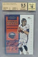 2012 Contenders Brock Osweiler Rookie Ticket Auto BGS 9.5/10 Denver Broncos RC