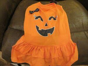 NWT Dog Pumpkin Chills & Thrills Halloween Costume, L