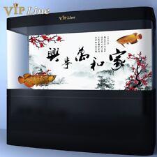 Blessing Calligraphy HD Aquarium Background Poster Fish Tank Decor Landscape