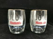 """Vintage Hamm's """"From The Land Of Sky Blue Waters"""" beer glasses  Set of 2"""