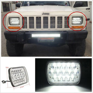 "Waterproof 45W 7""X6"" HID LED Car Truck H4 Crystal Clear High Low Beam Headlight"