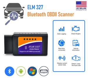Bluetooth OBD2 OBDII Car Diagnostic Scanner Auto Fault Code Reader Tool ELM327