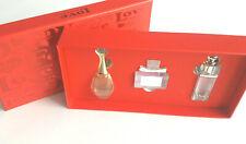 Dior Christian Perfume Gift (Set of 3 Miniatures) Valentine/LOVE Gift Box Fast!