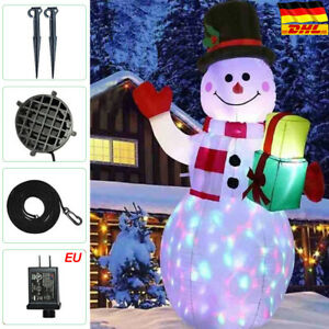 Schneemann Aufblasbar LED beleuchtet 150 cm außen Weihnachtsdeko DHL