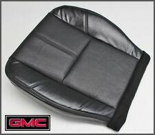07-12 GMC Sierra SLT Heated Seats Non-Perforated Driver Bottom Leather Seat BLCK