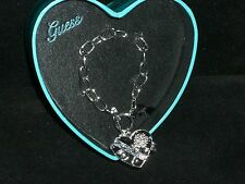 GUESS Crystal Heart Charm Toggle Bracelet- Comes in Heart Box