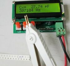 L/C Inductance Capacitance LC Meter High Precision For DIP SMD + Free 2 Clips