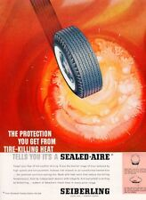 1961 Seiberling Tire Whiteway White Wall Tire PRINT AD
