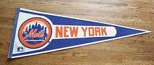 NY New York Mets logo pennant minor pin holes