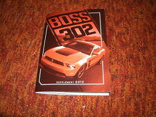 2012 FORD MUSTANG BOSS 302 FACTORY FORD OWNERS MANUAL SUPPLEMENT NEW