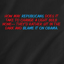 how may republicans does it take to change a light bulb none retro Funny T-Shirt