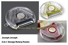 BRAND NEW IN BOX JOSEPH JOSEPH 3-IN-1 DESIGN ROTARY PEELER (3 COLORS AVAILABLE)